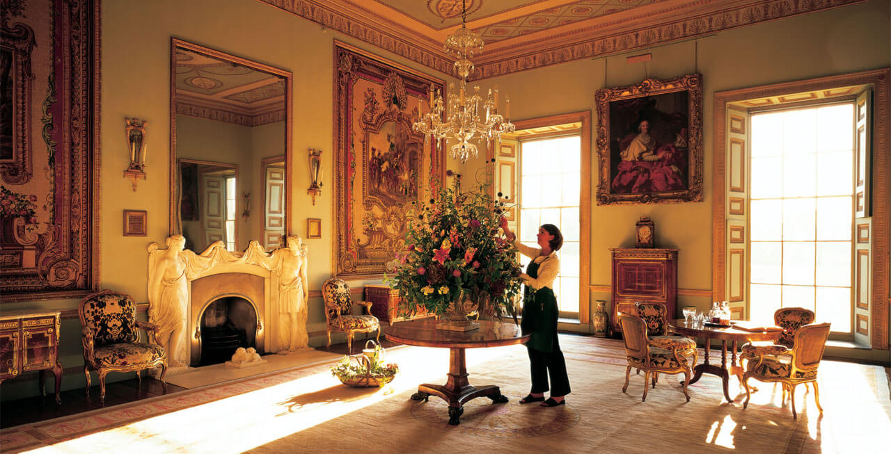 Photo of the Tapestry Drawing Room at Goodwood House