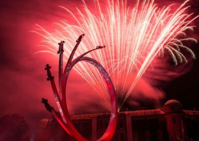 Photo of the fireworks at Goodwood Festival of Speed