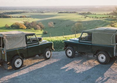 Photo of vintage Land Rovers in Goodwood's Estate