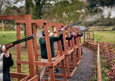 Photo of clay pigeon shooting at Goodwood