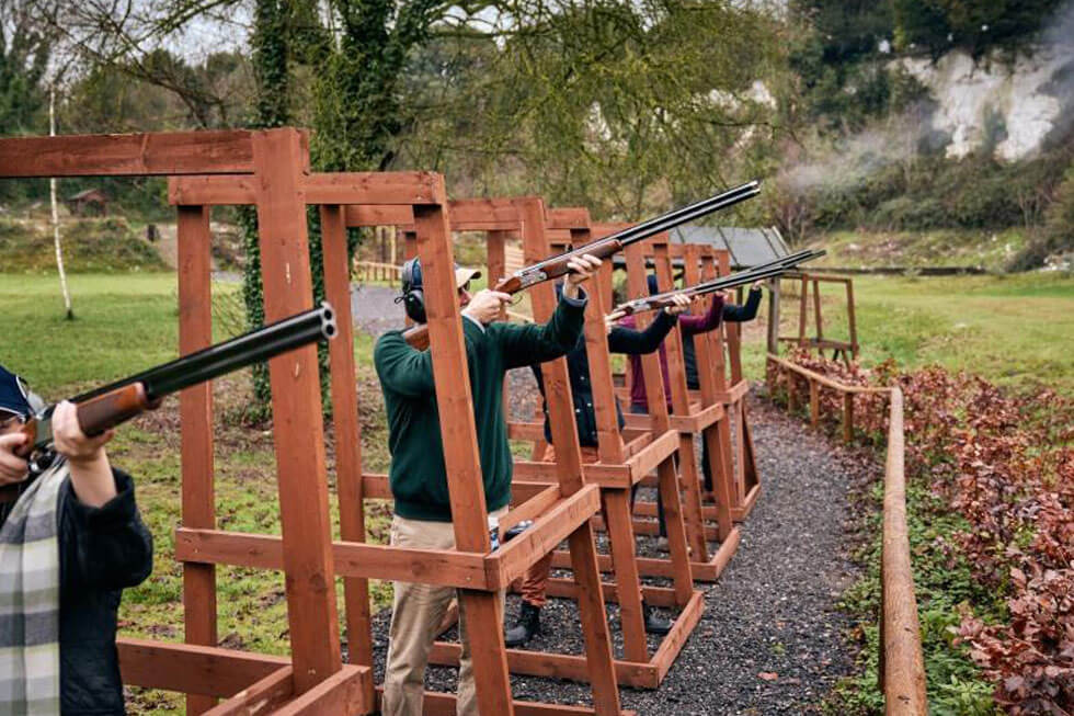 Photo of clay pigeon shooting at Goodwood Hotel