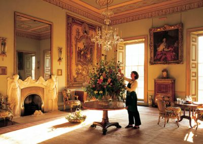 Photo of one of the luxurious rooms at Goodwood House