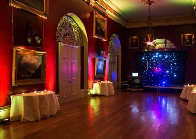 Photo of one of the rooms at Goodwood House converted into a disco