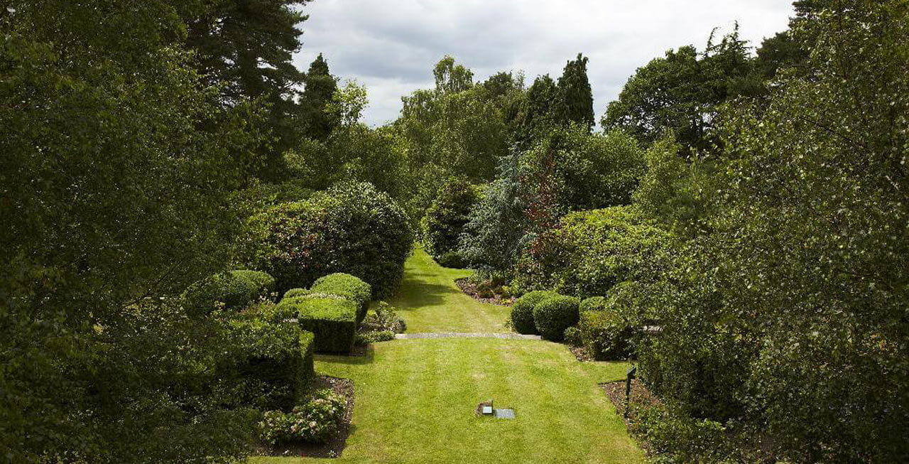 Photo of the gardens at Gorse Hill