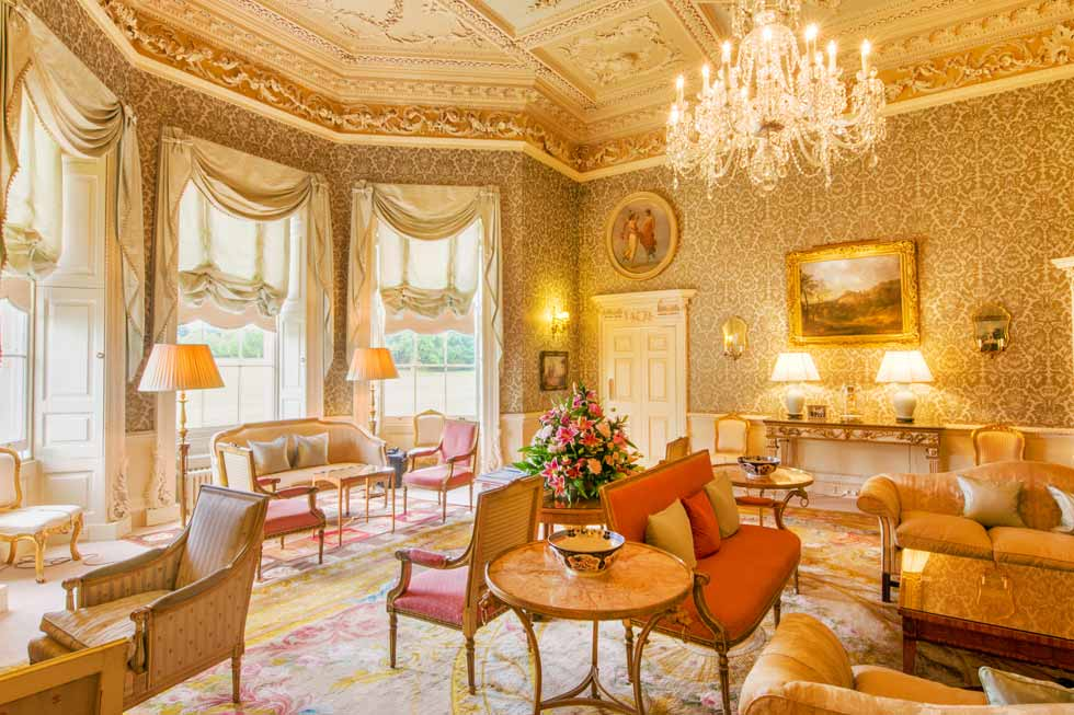 Image of one of the stunning rooms at Hartwell House