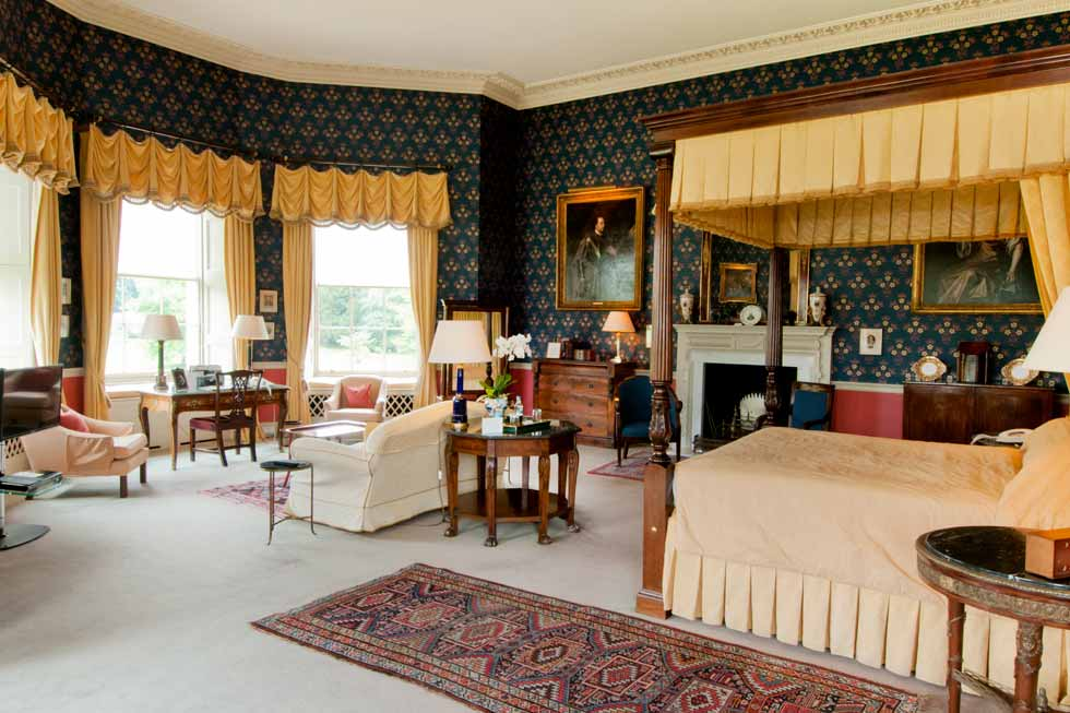 Image of one of the stunning bedroom suites at Hartwell House