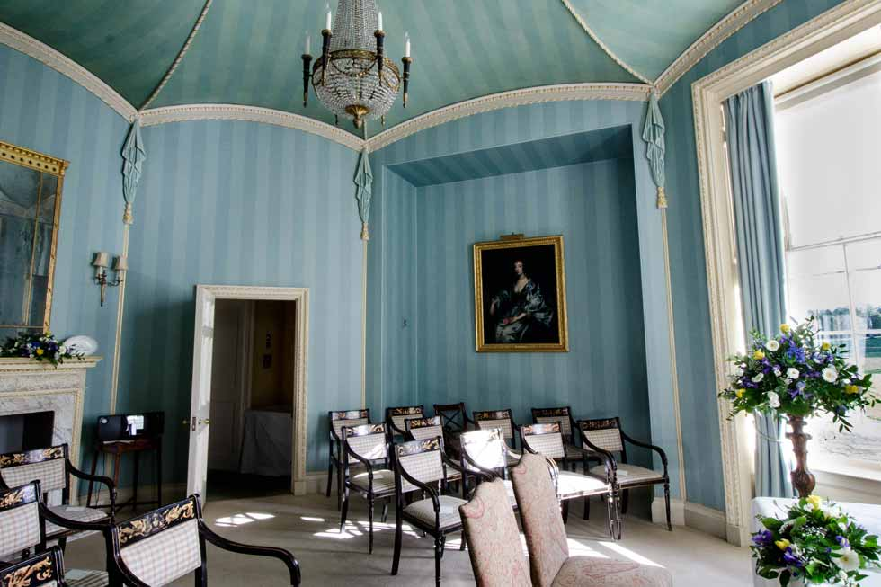Image of the Octagon room at Hartwell House
