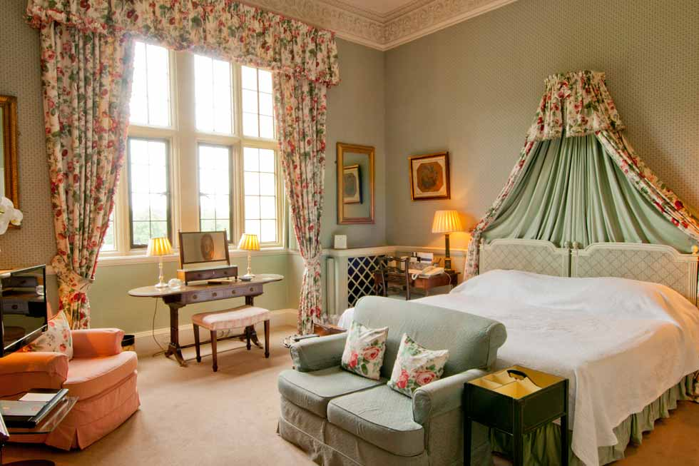 Image of one of the bedrooms at Hartwell House