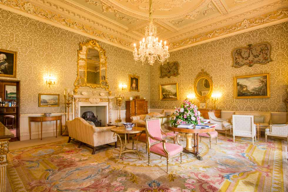 Image of one of the beautiful reception rooms at Hartwell House
