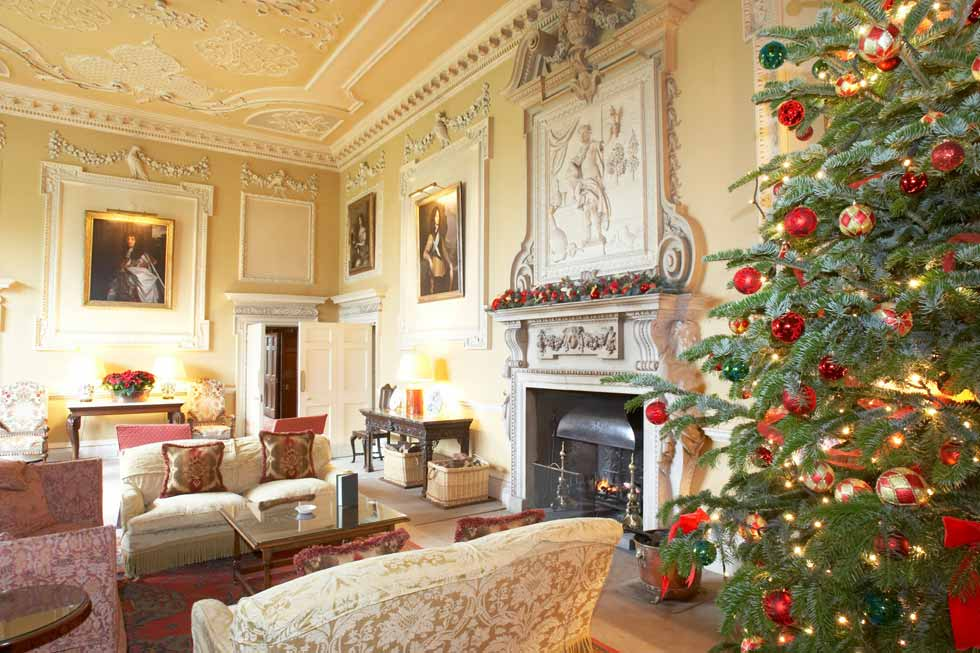 Image of a Christmas tree in Hartwell House
