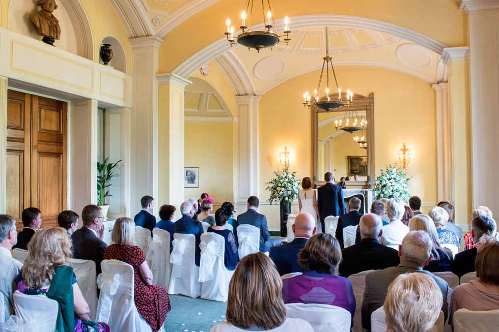 Image of a wedding taking place at Hartwell House