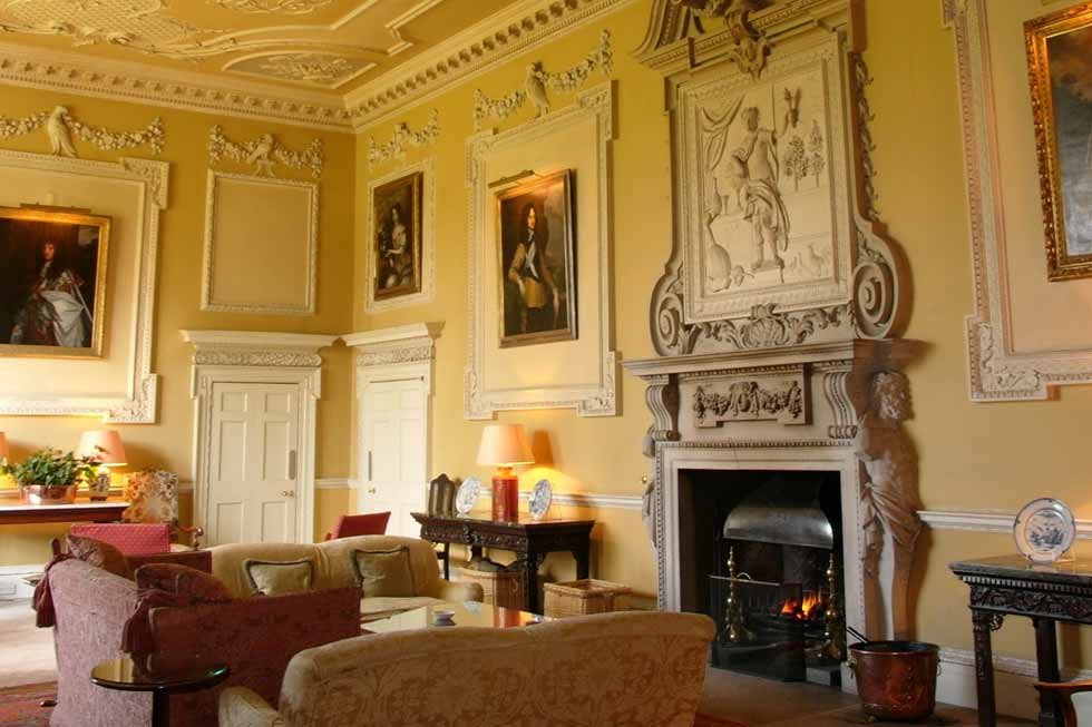 Image of one of Hartwell House's fire places