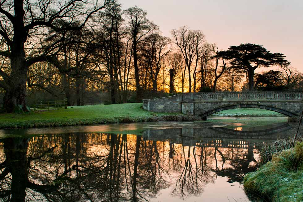 Image of the bridge at Hartwell House