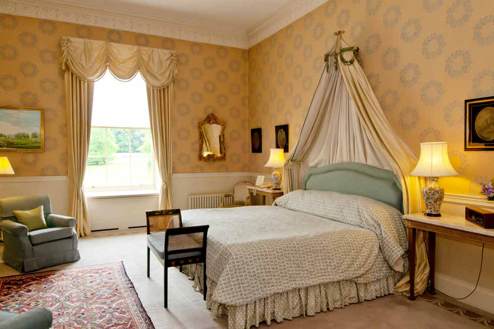 Image of one of the lovely bedrooms at Hartwell House