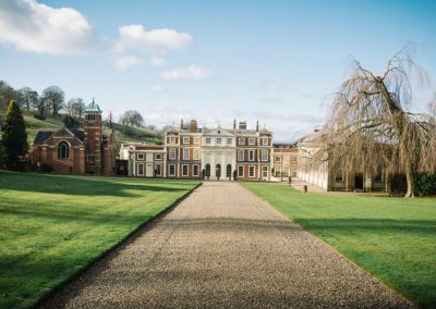Photo of the front of Hawkstone Hall