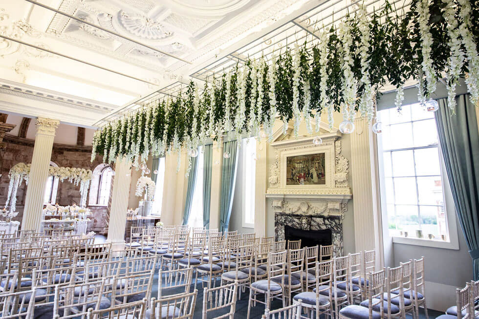 Photo of the main room for a wedding