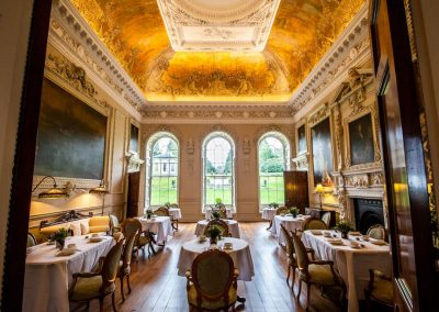 Photo of the dining room at Hawkstone Hall