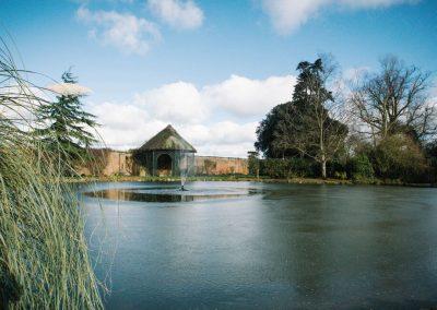 Photo of the lake at Hawkstone Hall