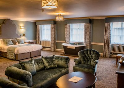 Photo of one of the 37 bedrooms at Hawkstone Hall