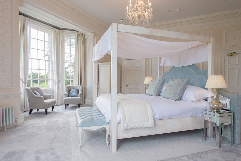 One of the stunning bedroom suites at Sequoia Court
