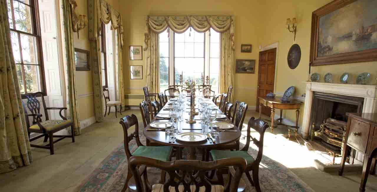 The beautiful dining room at Hill Place