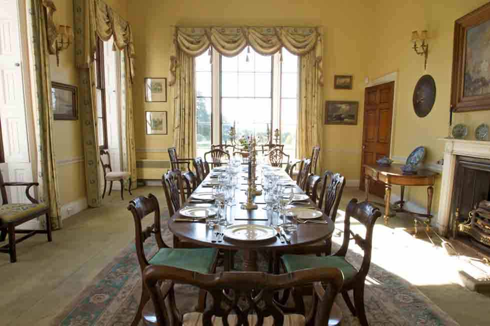 The large dining room at Hill Place