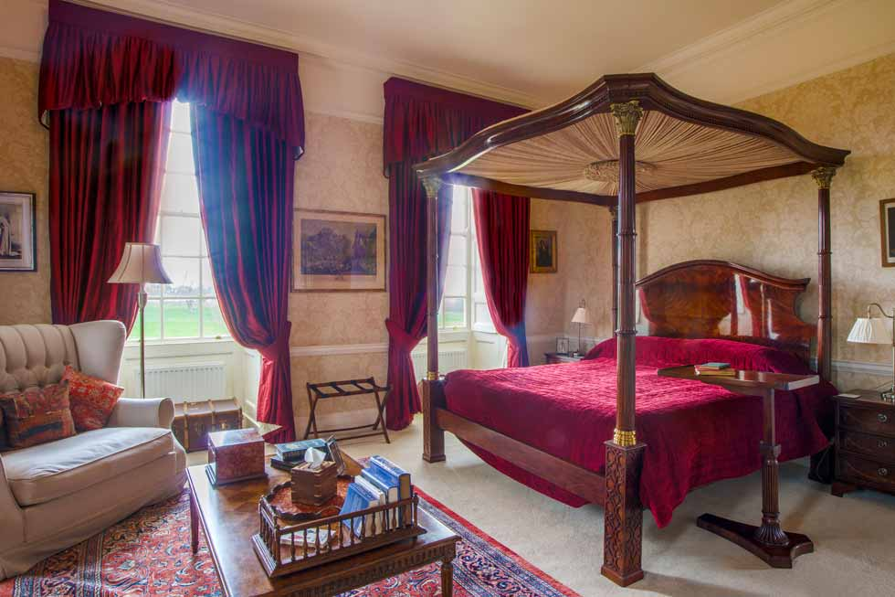 One of the many stunning bedroom suites at Hinwick House