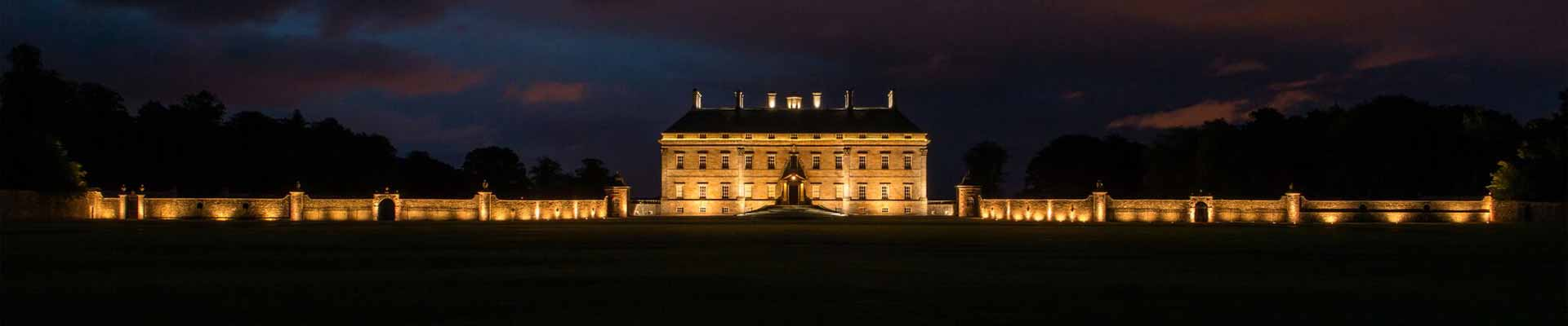 Photo of the stunning Kinross House at night