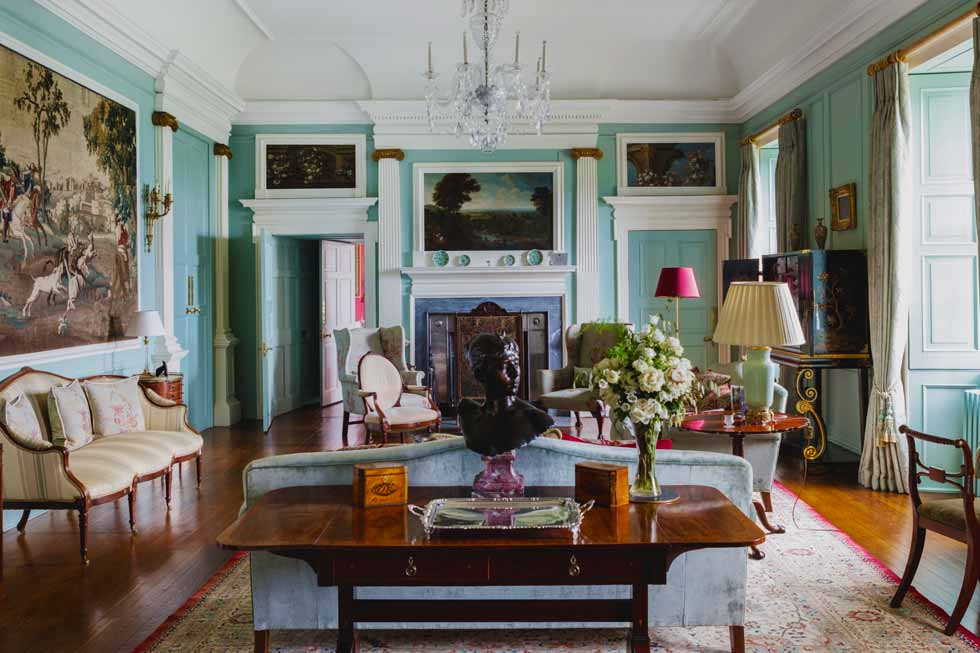 Photo of one of the stunning sitting rooms at Kinross House