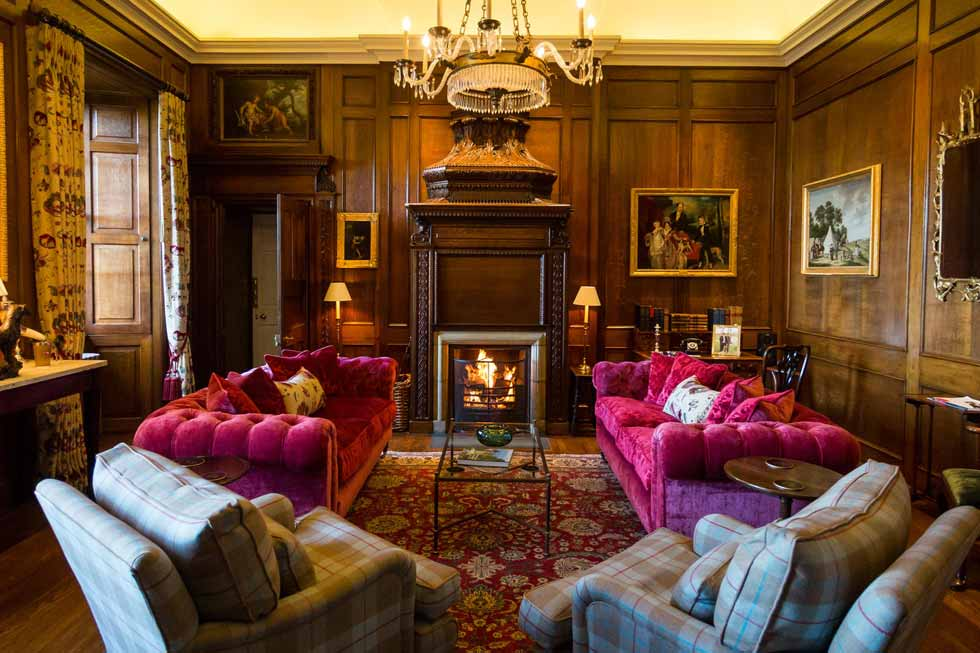 Photo of the Gentlemen's drawing room at Kinross House