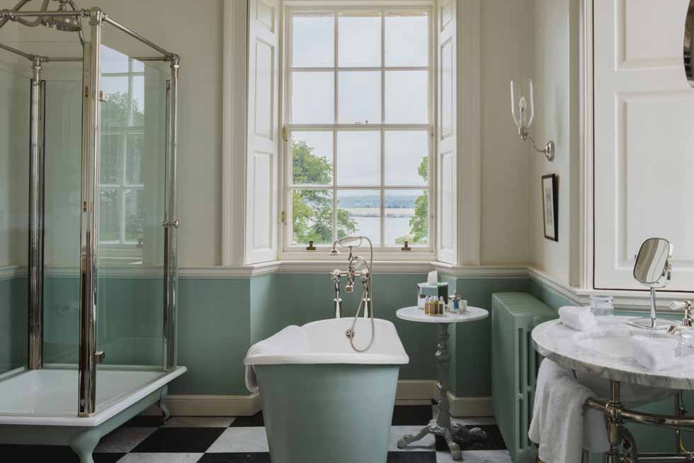 Photo of one of the beautiful bathrooms at Kinross House