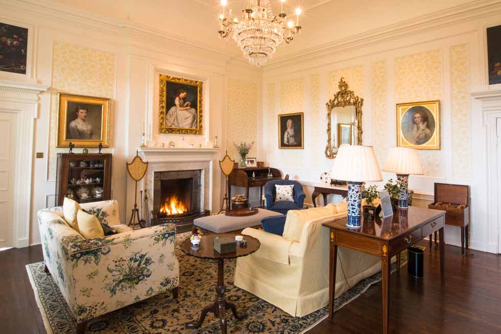 Photo of the ladies' drawing room at Kinross House