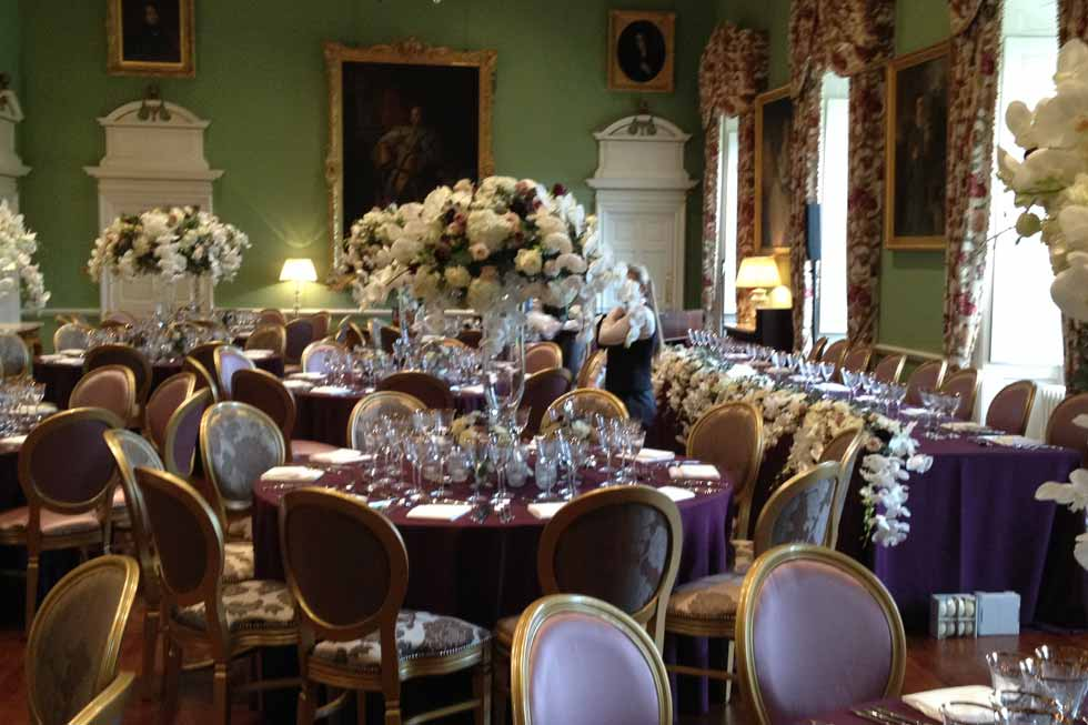 Photo of the Grand Salon at Kinross House dressed for an event