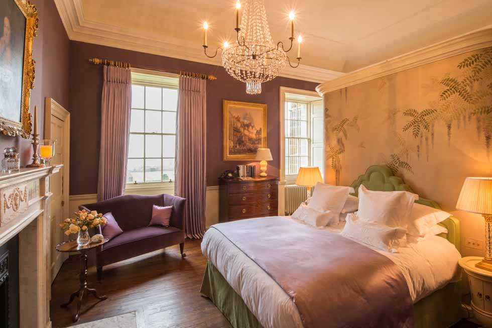 Photo of one off the beautiful bedrooms at Kinross House