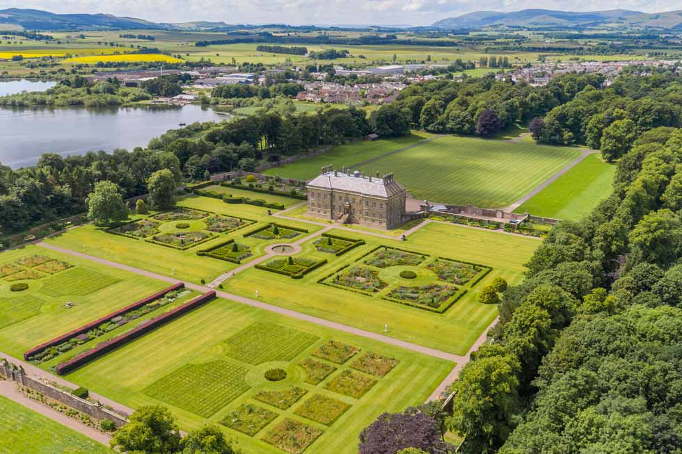 Photo of the stunning gardens at Kinross House
