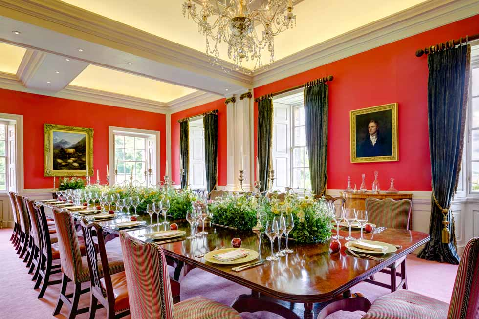 Photo of the impressive dining room at Kinross House
