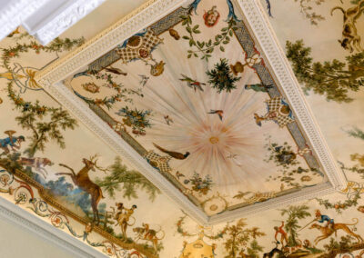 Photo of the Monkey Room ceiling at Kirtlington Park