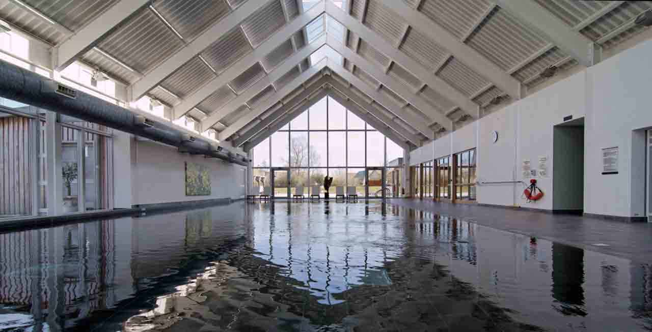 Complete a few lengths of the indoor swimming pool