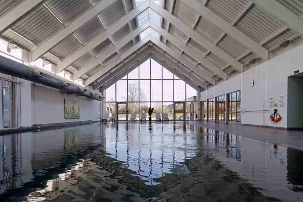 Enjoy the use of the large indoor swimming pool at Lagoon Lodge