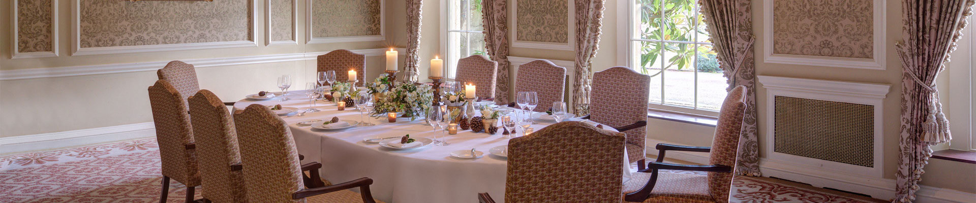 Photo of one of the function rooms at Lucknam Park