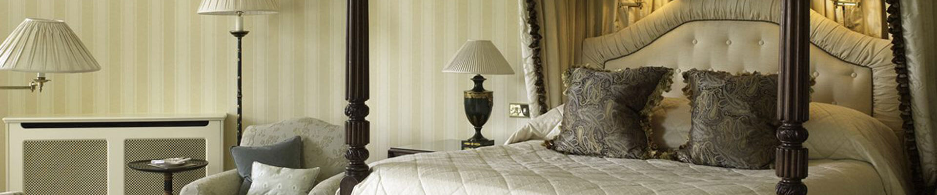 Photo of one of the bedroom suites at Lucknam Park