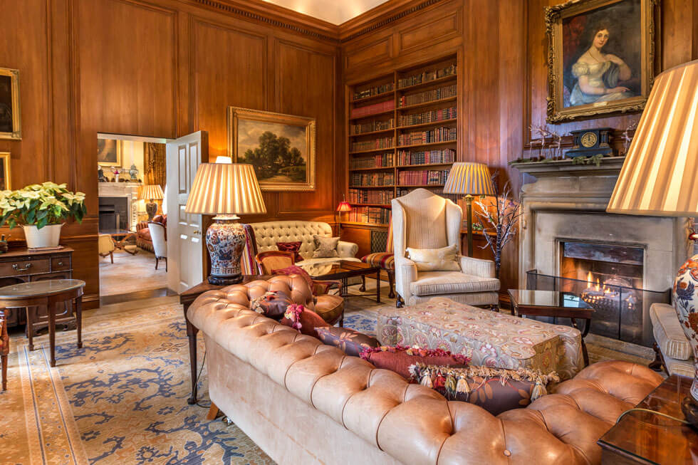 Photo of the drawing room at Lucknam Park