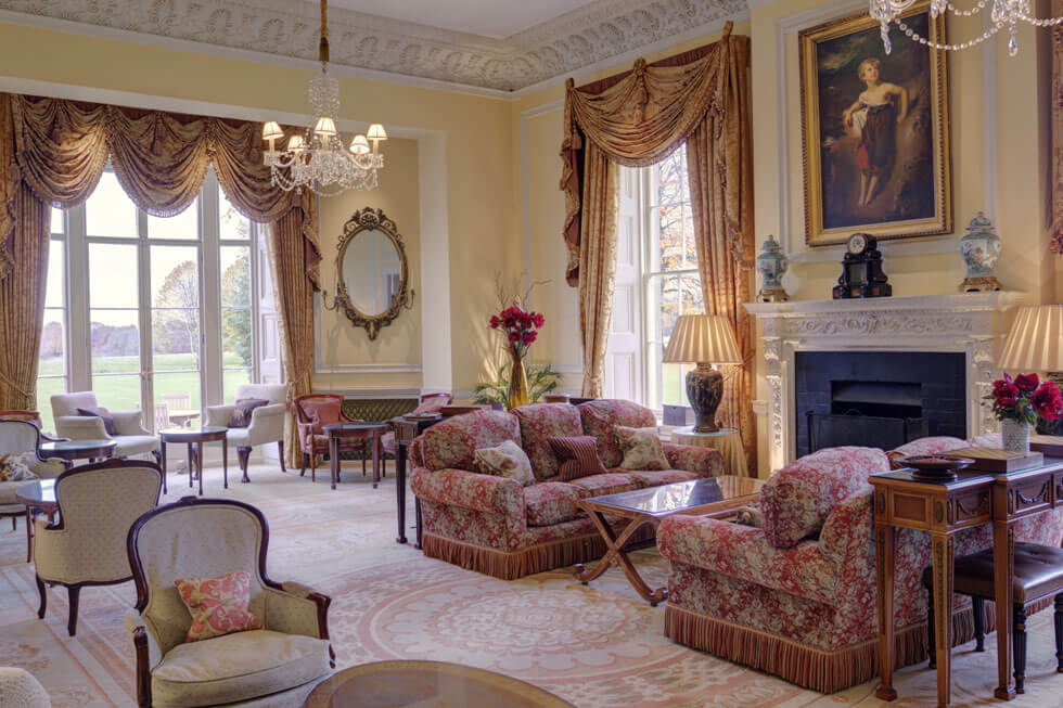Photo of Lucknam Park's beautiful lounge