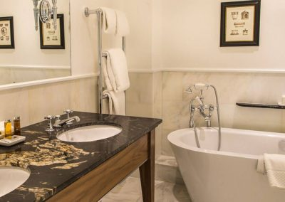 Photo of one of the bathrooms in a Grand Suite at Lucknam Park