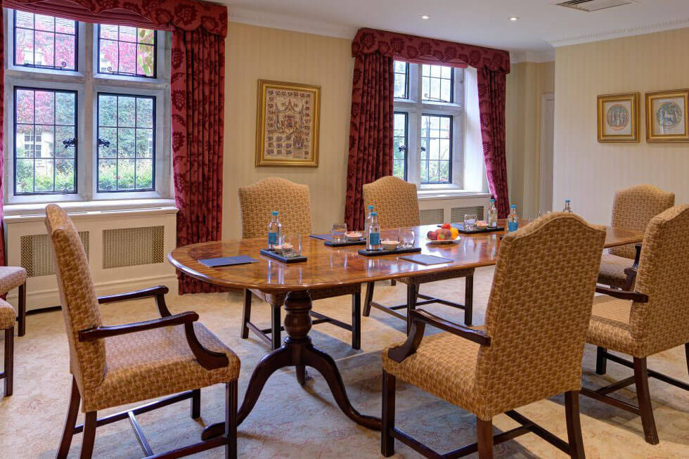 Photo of the boardroom at Lucknam Park