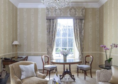 Photo of a lounge of one of the Grand Suites at Lucknam Park