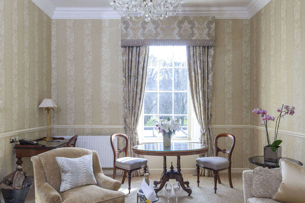 Photo of the lounge in the Grand Suites at Lucknam Park