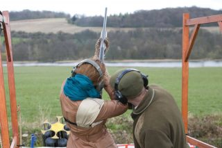 Photo of clay pigeon shooting at Luton Hoo
