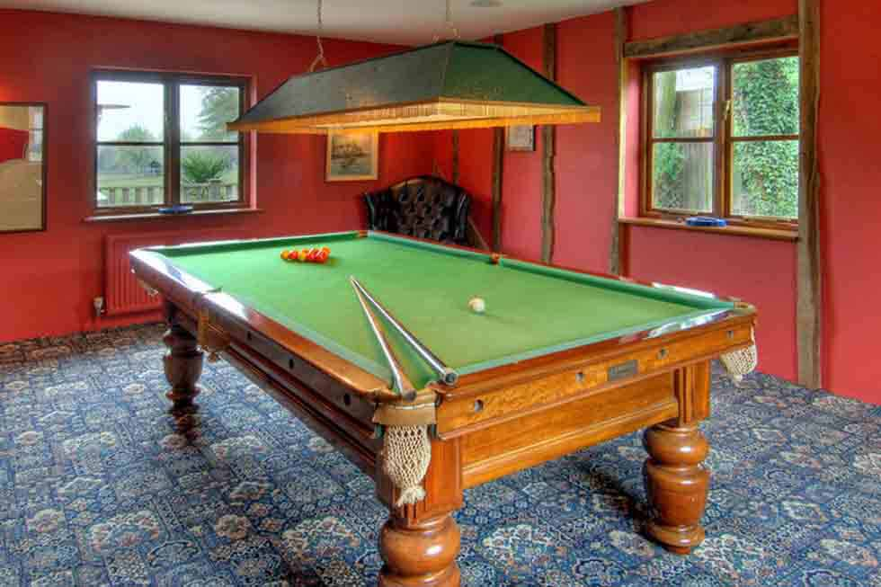 Manor Farmhouse's snooker room