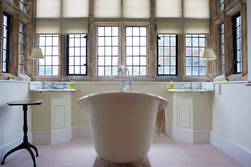 Enjoy a soak in one of North Cadbury Courts beautiful bathrooms